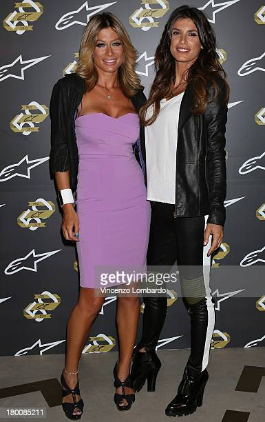 Maddalena Corvaglia and Elisabetta Canalis attend the Alpinestars 50th Anniversary Event at Progetto Calabiana on September 8 2013 in Milan Italy