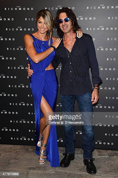 Maddalena Corvaglia and Stef Burns attend the John Richmond show during the Milan Men's Fashion Week Spring/Summer 2016 on June 21 2015 in Milan Italy