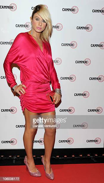 Maddalena Corvaglia attend 'The Red Affair Campari Calendar 2011' cocktail party on October 21 2010 in Milan Italy