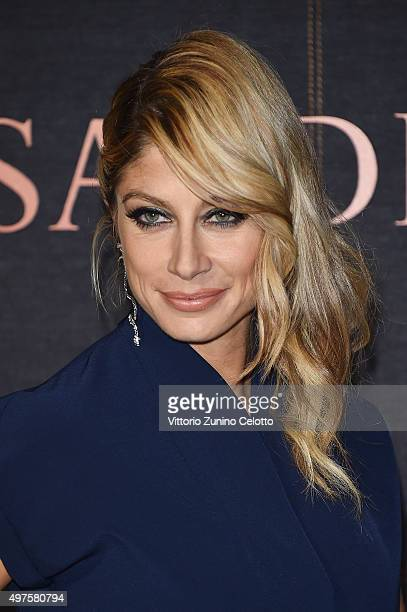 Maddalena Corvaglia attends a photocall for 'Trussardi Jeans Celebrates The New IT Bag' party on November 17 2015 in Milan Italy