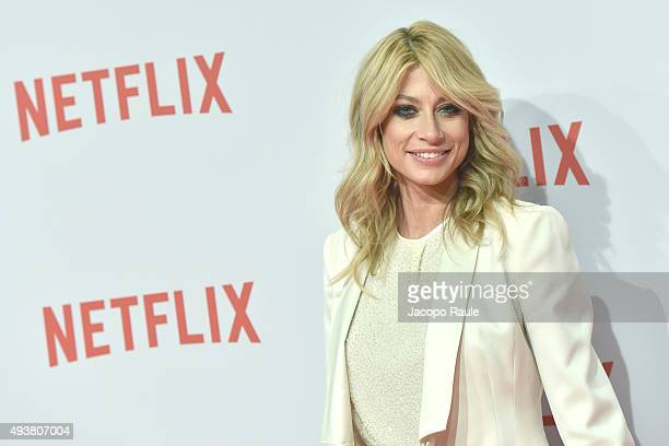Maddalena Corvaglia attends a red carpet for the Netflix launch at Palazzo Del Ghiaccio on October 22 2015 in Milan Italy