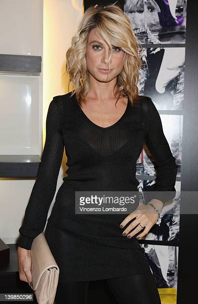 Maddalena Corvaglia attends Giuseppe Zanotti Design Press Day as part of Milan Womenswear Fashion Week on February 24 2012 in Milan Italy