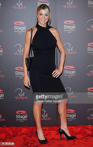 Maddalena Corvaglia attends La Bella E La Bestia Red Carpet held at Teatro Nazionale on October 2 2009 in Milan Italy