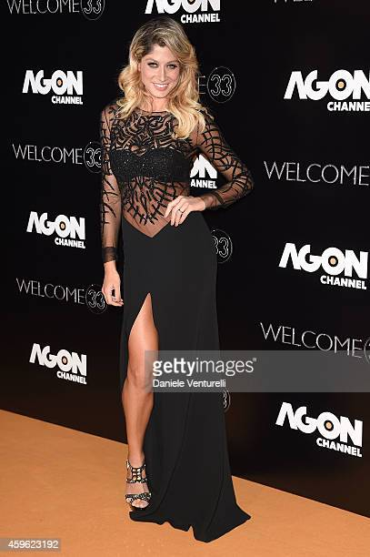 Maddalena Corvaglia attends the Agon Channel launch party photocall on November 26 2014 in Milan Italy