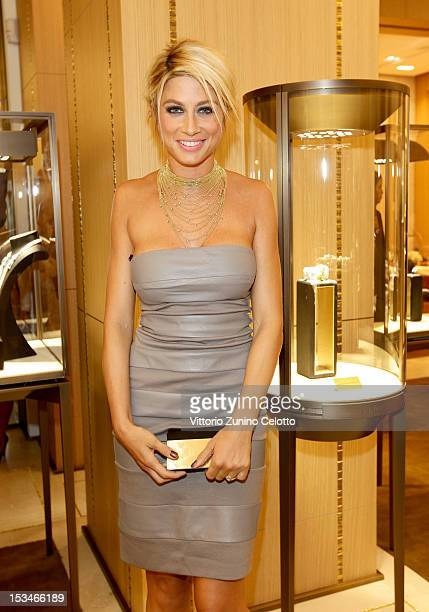 Maddalena Corvaglia attends the Cartier Boutique reopening cocktail party on October 5 2012 in Milan Italy