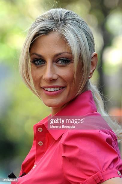 Maddalena Corvaglia attends the Italian tv show 'Scalo 76' on April 06 2008 in Milan Italy