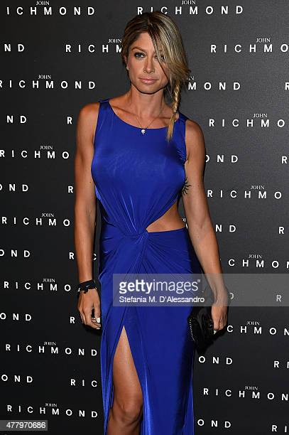 Maddalena Corvaglia attends the John Richmond show during the Milan Men's Fashion Week Spring/Summer 2016 on June 21 2015 in Milan Italy