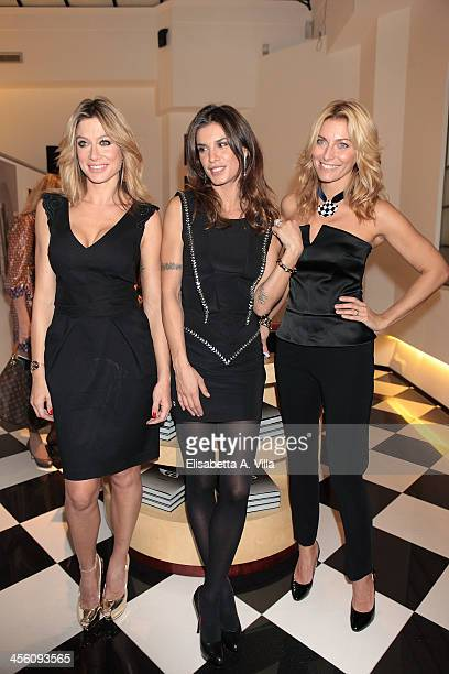 Maddalena Corvaglia Elisabetta Canalis and Federica Fontana attend the 'Luce Preziosa' presentation at the GB ENIGMA by Gianni Bulgari boutique on...