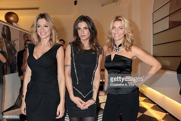 Maddalena Corvaglia Elisabetta Canalis and Federica Fontana attend the 'Luce Preziosa' presentation at the GB ENIGMA by Gianni Bulgari boutique on...