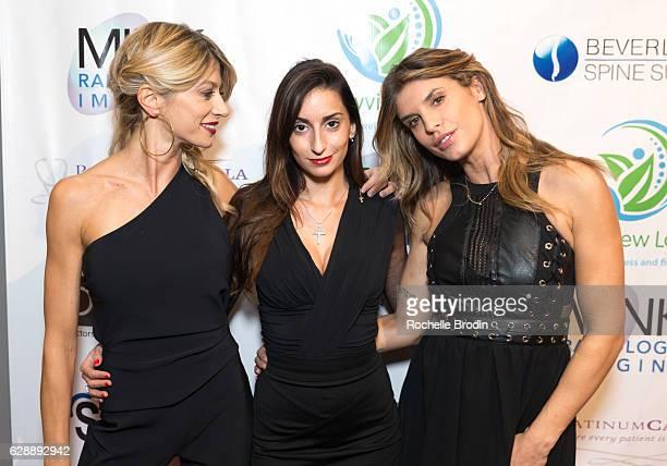 Maddalena Corvaglia PR Veronica Lafleur and Elisabetta Canalis attend Elisabetta and Maddalena For SkyViewLA on December 9 2016 in Los Angeles...