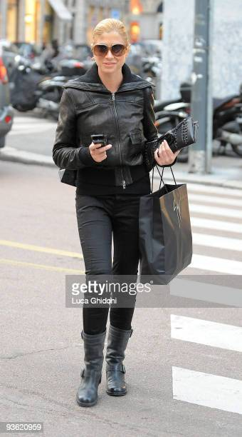 Maddalena Corvalia is seen shopping on December 2 2009 in Milan Italy