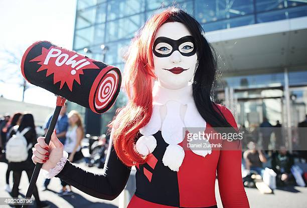 Maddi Dawson poses as Harley Quinn during New York ComicCon 2015 at The Jacob K Javits Convention Center on October 10 2015 in New York City