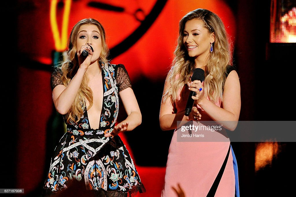 Maddie and Tae on stage at the 2016 American Country Countdown Awards at The Forum on May 1, 2016 in Inglewood, California.