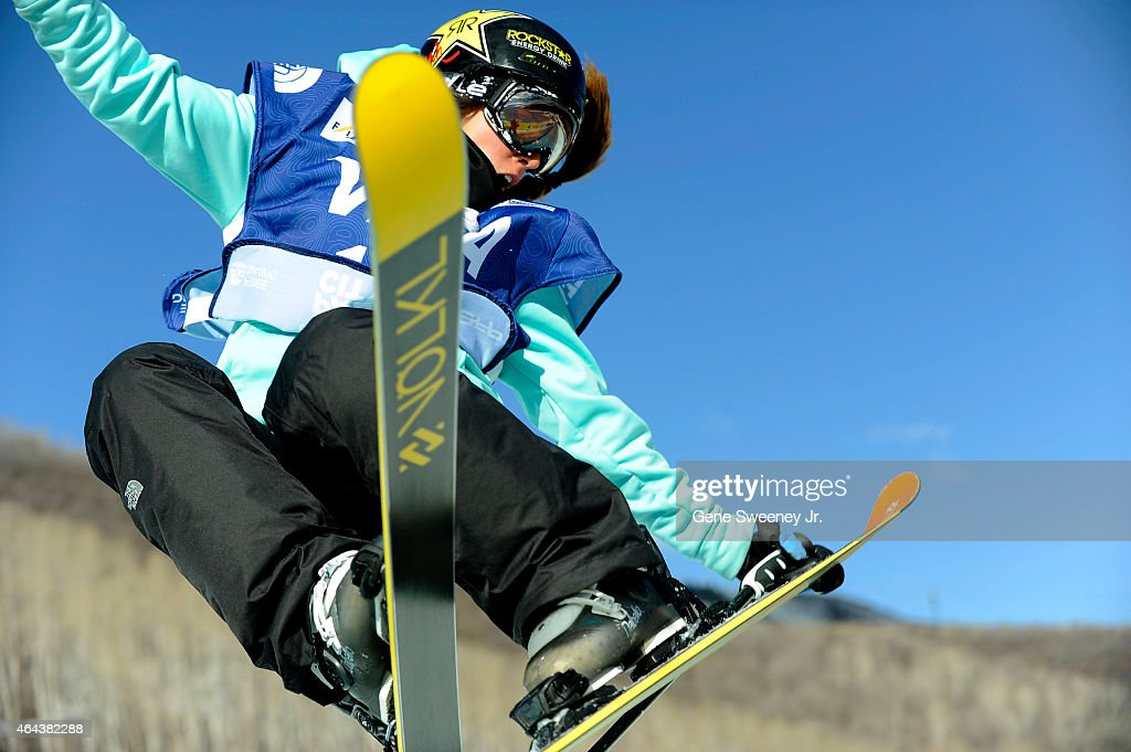 <a gi-track='captionPersonalityLinkClicked' href=/galleries/search?phrase=Maddie+Bowman&family=editorial&specificpeople=8052656 ng-click='$event.stopPropagation()'>Maddie Bowman</a> of the United States during qualifying for the FIS Freeskiing World Cup 2015 Women's Freeskiing Halfpipe during the U.S. Grand Prix at Park City Mountain on February 25, 2015 in Park City, Utah.