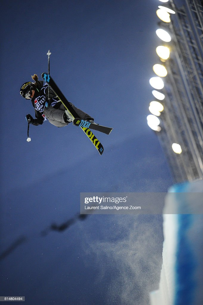 <a gi-track='captionPersonalityLinkClicked' href=/galleries/search?phrase=Maddie+Bowman&family=editorial&specificpeople=8052656 ng-click='$event.stopPropagation()'>Maddie Bowman</a> of the USA takes 1st place during the FIS Freestyle Ski World Cup, Men's and Women's Halfpipe Final on March 10, 2016 in Tignes, France.