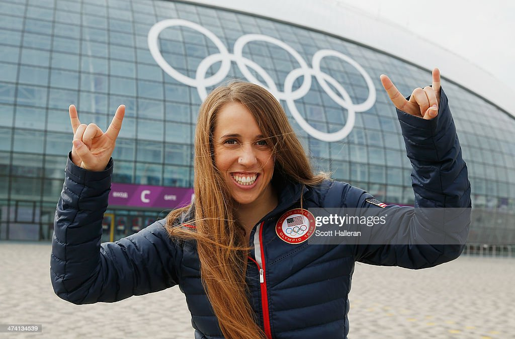 <a gi-track='captionPersonalityLinkClicked' href=/galleries/search?phrase=Maddie+Bowman&family=editorial&specificpeople=8052656 ng-click='$event.stopPropagation()'>Maddie Bowman</a> of the USA team poses in the Olympic Park during the Sochi 2014 Winter Olympics on February 21, 2014 in Sochi, Russia.
