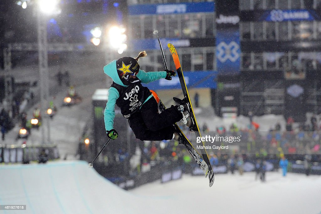 <a gi-track='captionPersonalityLinkClicked' href=/galleries/search?phrase=Maddie+Bowman&family=editorial&specificpeople=8052656 ng-click='$event.stopPropagation()'>Maddie Bowman</a> takes first place in the Ski Superpipe Women's Finals on Buttermilk Mountain, Wednesday January 21, Aspen X Games 2015. This is her third win in the event, the only other woman to do so is Sarah Burke who won the event four times, Burke died in a training event in 2012.