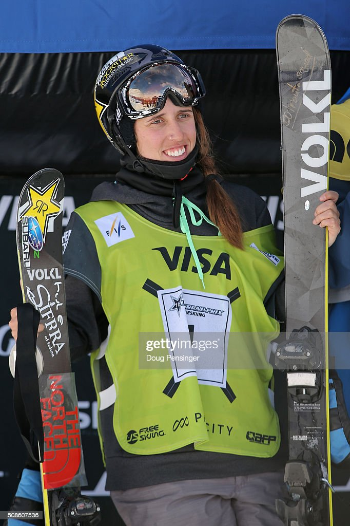 <a gi-track='captionPersonalityLinkClicked' href=/galleries/search?phrase=Maddie+Bowman&family=editorial&specificpeople=8052656 ng-click='$event.stopPropagation()'>Maddie Bowman</a> takes the podium after skiing to first place in the ladies' FIS Freestyle Ski Halfpipe World Cup and capturing the national championship at the 2016 Visa U.S. Freeskiing Park City Grand Prix on February 5, 2016 in Park City, Utah.
