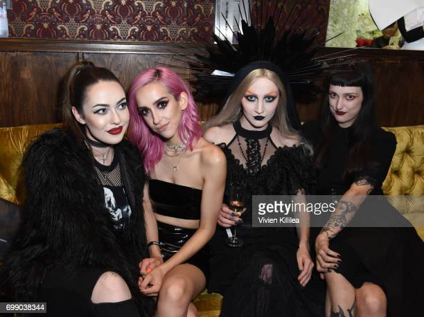 Maddie Carina Lina Assayed Caitlin Marks and Chantelle Sawyer attend the Kat Von D Beauty Fragrance Launch Press Party #SAINTANDSINNER at Hollywood...