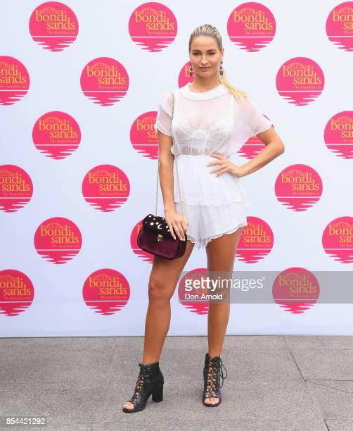 Maddie Edwards attends the Bondi Sands SPF Suncare Launch at The Ivy on September 27 2017 in Sydney Australia