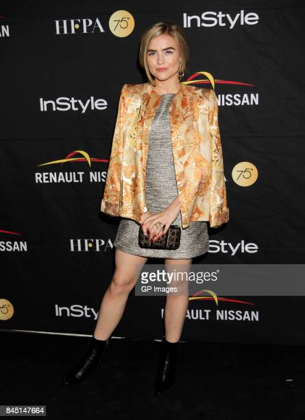 Maddie Hasson attends The Hollywood Foreign Press Association and InStyle's annual celebrations of the 2017 Toronto International Film Festival at...