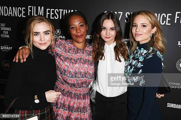 Maddie Hasson Maggie Betts Liana Liberato and Dianna Agron attend the 'Novitate' premiere during day 2 of the 2017 Sundance Film Festival at Eccles...
