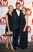 Maddie Hill Danny Dyer and Kellie Bright attend the TV Choice Awards 2015 at Hilton Park Lane on September 7 2015 in London England