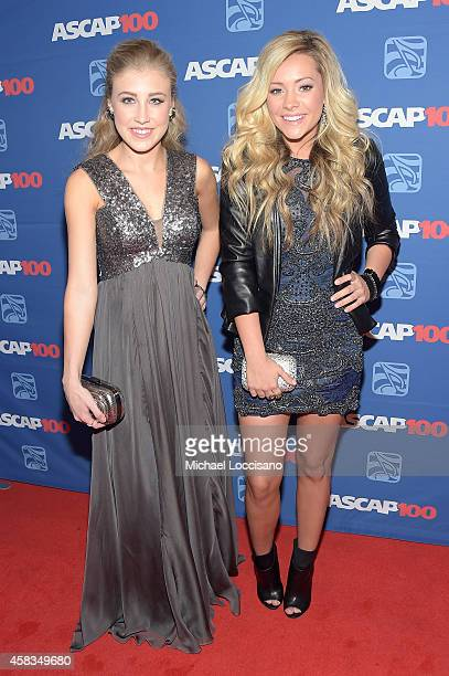 Maddie Marlow and Tae Dye of Maddie Tae attend the 52nd annual ASCAP Country Music awards at Music City Center on November 3 2014 in Nashville...