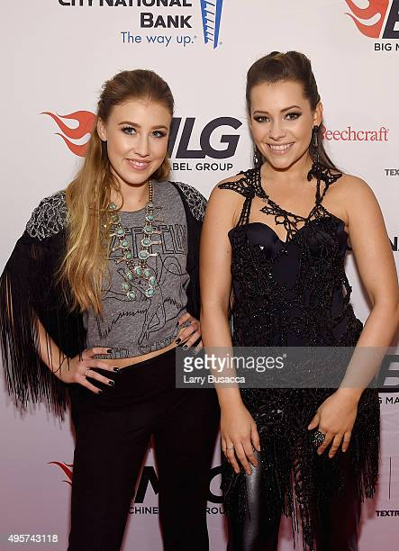 Maddie Marlow and Tae Dye of musical duo Maddie Tae attend as Big Machine Label Group celebrates The 49th Annual CMA Awards at Rosewall on November 4...