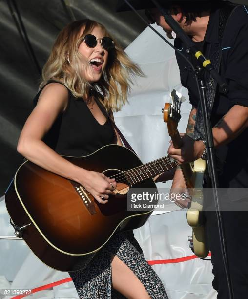 Maddie Marlow of Maddie Tae performs during Country Thunder Day 4 on July 23 2017 in Twin Lakes Wisconsin