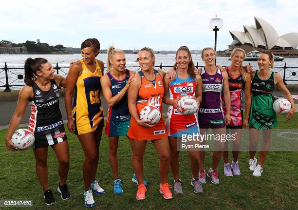 Maddie Robinson of Collingwood Geva Mentor of Sunshine Coast Lighting Kate Maloney of Melbourne Vixens Kimberlee Green of Giants Abbey McCulloch of...