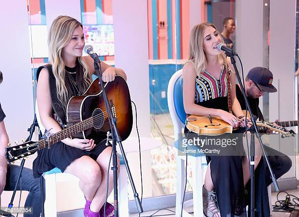 Maddie Tae perform at the Maddie Tae Album Release Party at Dylan's Candy Bar on September 1 2015 in New York City