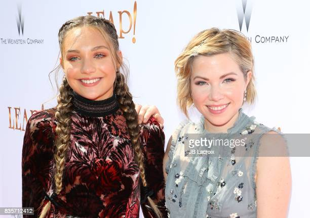 Maddie Ziegler and Carly Rae Jepsen attend the premiere of The Weinstein Company's 'Leap' on August 19 2017 in Los Angeles California