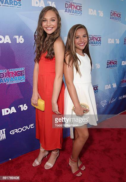 Maddie Ziegler and Mackenzie Ziegler attend the 2016 Industry Dance Awards And Cancer Benefit Show at Avalon on August 17 2016 in Hollywood California