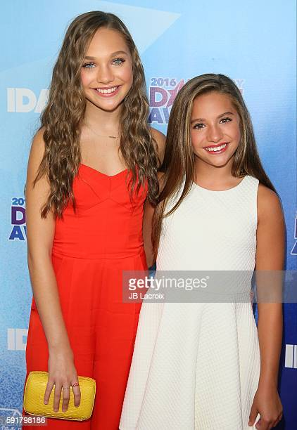 Maddie Ziegler and Mackenzie Ziegler attend the 2016 Industry Dance Awards and Cancer Benefit Show on August 17 2016 in Hollywood California