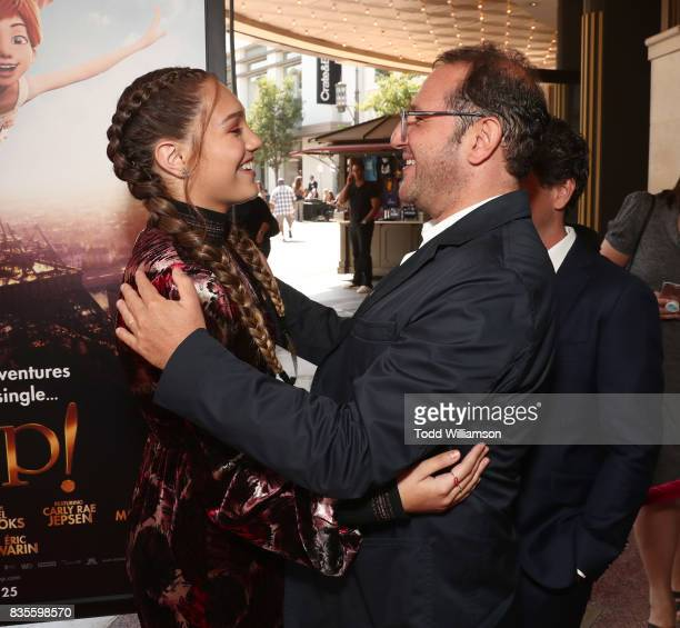 Maddie Ziegler and Producer Laurent Zeitoun attend the premiere Of The Weinstein Company's 'Leap' at Pacific Theatres at The Grove on August 19 2017...