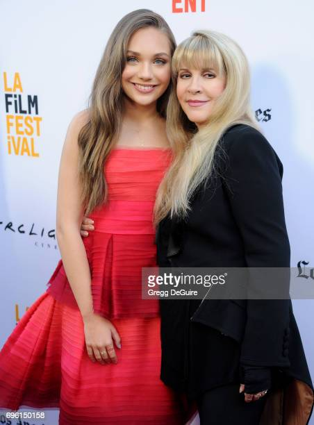 Maddie Ziegler and Stevie Nicks arrive at the 2017 Los Angeles Film Festival Opening Night Premiere Of Focus Features' 'The Book Of Henry' at...