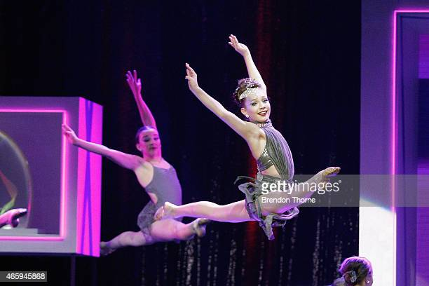 Maddie Ziegler dances on stage on stage during the 2015 ASTRA Awards at The Star on March 12 2015 in Sydney Australia
