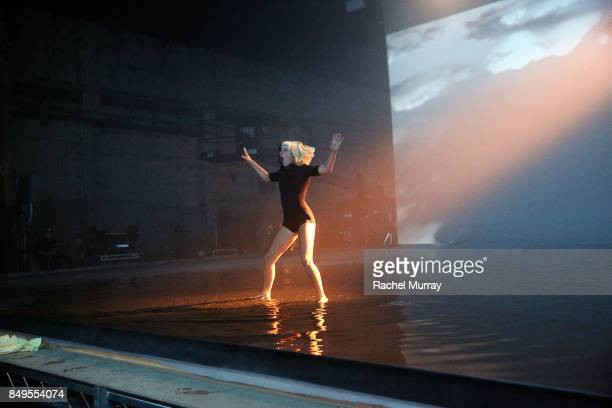 Maddie Ziegler on the set of the My Little Pony The Movie 'Rainbow' Music Video Shoot at Red Studios on August 6 2017 in Los Angeles California