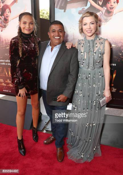 Maddie Ziegler Ricardo 'El Mandrill' Sanchez and Carly Rae Jepsen attend the premiere Of The Weinstein Company's 'Leap' at Pacific Theatres at The...