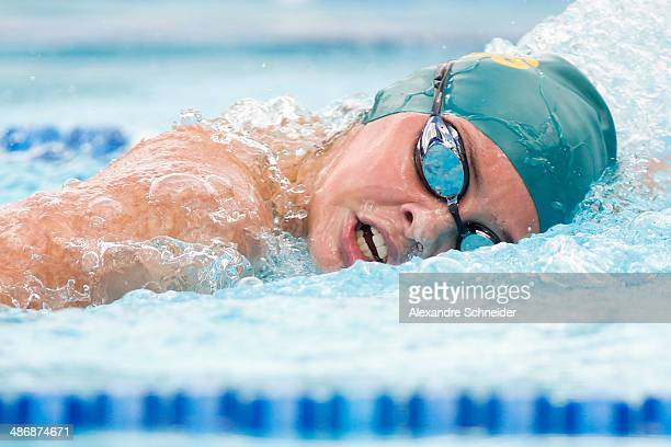 Maddison Elliot of Australia competes in the women's 400m freestyle on day three of the Caixa Loterias 2014 Paralympics Swimming competition at...