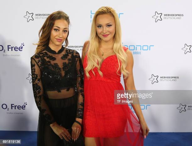 Maddy and Amira attends the Webvideopreis Deutschland 2017 at ISS Dome on June 1 2017 in Duesseldorf Germany