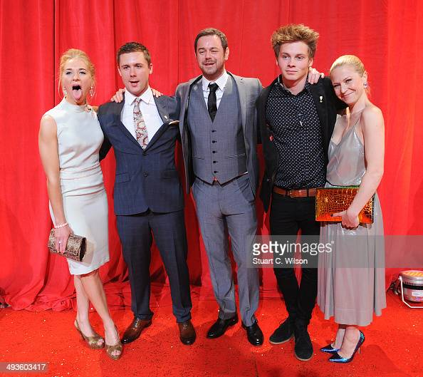 Maddy Hill DannyBoy Hatchard Danny Dyer Sam Strike Kellie Bright attend the British Soap Awards at Hackney Empire on May 24 2014 in London England