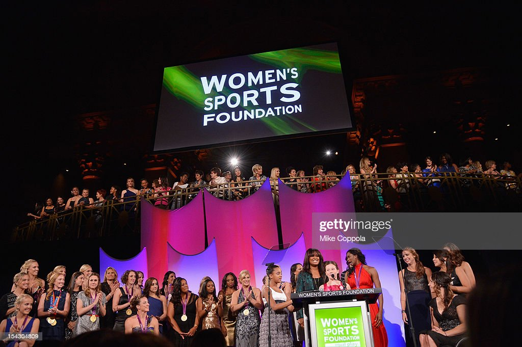 Maddy Riordan speaks at the 33rd Annual Salute To Women In Sports Gala at Cipriani Wall Street on October 17 2012 in New York City
