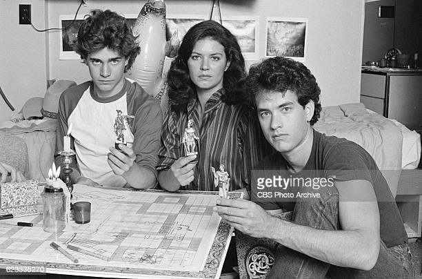Made for TV movie 'Rona Jaffes Mazes and Monsters' originally broadcast on CBS on December 28 1982 Featuring from left to right Chris Makepeace Wendy...