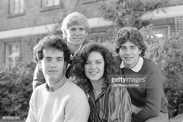 Made for TV movie 'Rona Jaffes Mazes and Monsters' originally broadcast on CBS on December 28 1982 Featuring from left to right Tom Hanks David...