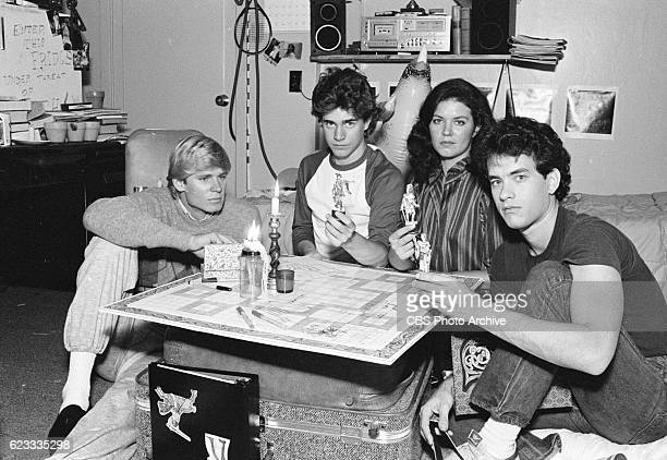 Made for TV movie 'Rona Jaffes Mazes and Monsters' originally broadcast on CBS on December 28 1982 Featuring from left to right David Wysocki Chris...