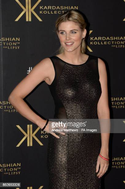 Made In Chelsea star Ashley James attending the Kardashian Kollection For Lipsy launch party at the Natural History Museum London