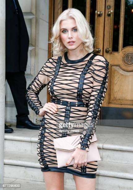 Made in Chelsea star Ashley James celebrates the London shoot of the upcoming film 'Cake' by Asim Abbasi on May 2 2017 in London England