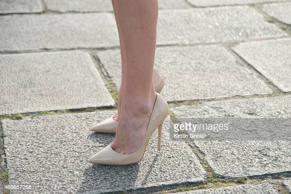 Made In Chelsea star Sophie Hermann who wears Jimmy Choo shoes on day 5 of Paris Collections Women on March 07 2015 in Paris France